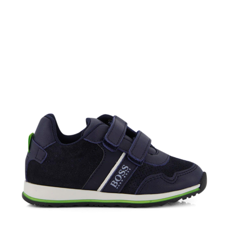 Afbeelding van Boss J09139 kindersneakers navy
