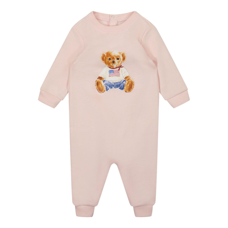 Picture of Ralph Lauren 850995 baby playsuit light pink