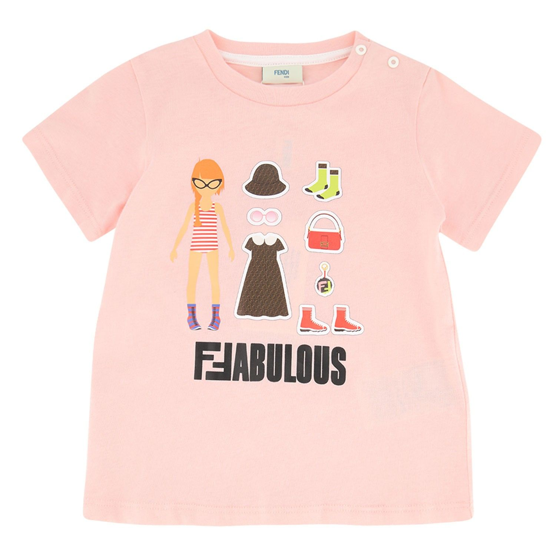 Afbeelding van Fendi BFI115 baby t-shirt licht roze