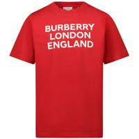 Picture of Burberry 8031693 kids t-shirt red