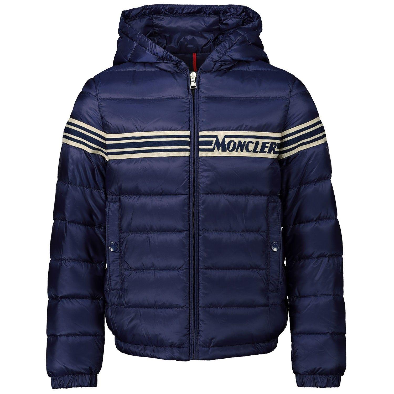 Afbeelding van Moncler 1A12020 kinderjas donker blauw