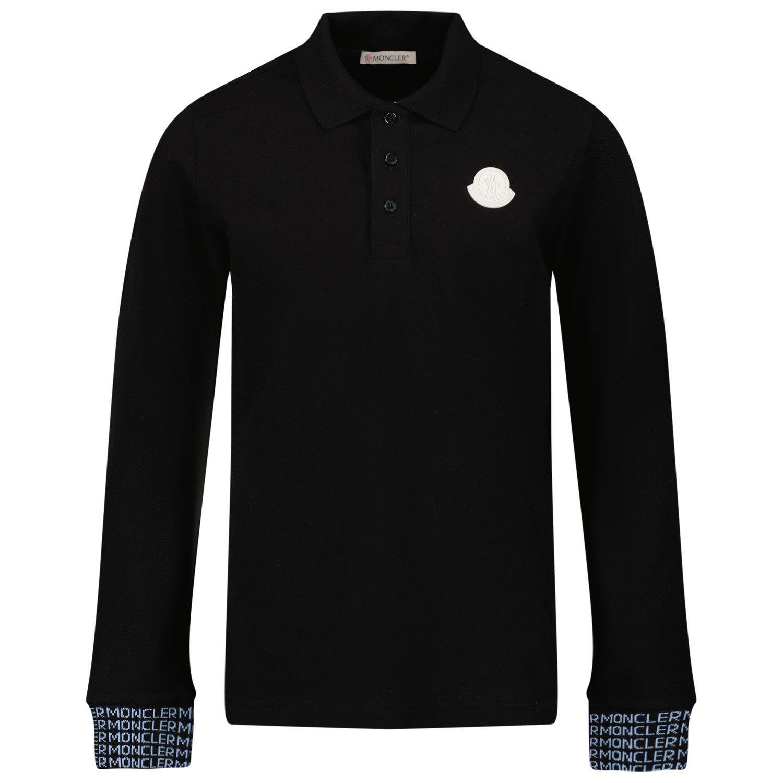 Afbeelding van Moncler 8B71120 kinder polo zwart