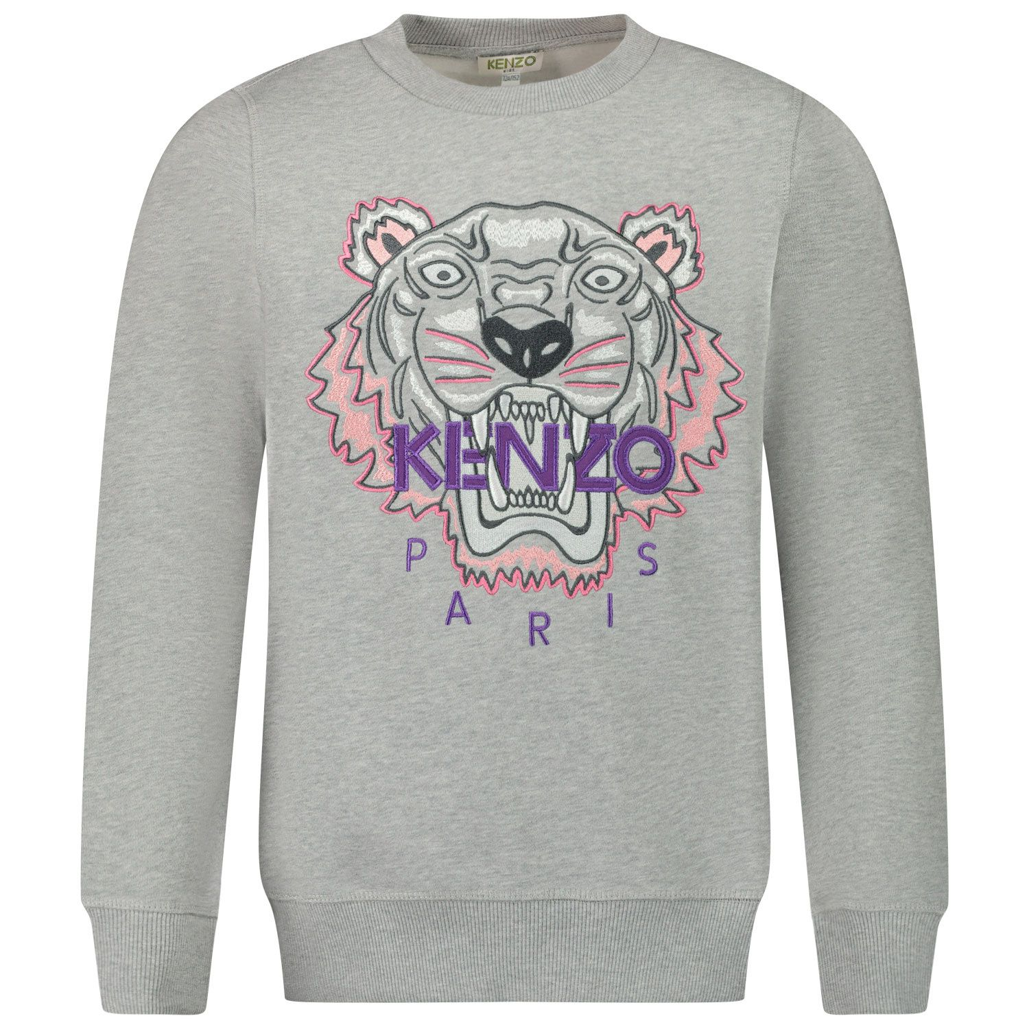 Picture of Kenzo KR15158 kids sweater light gray