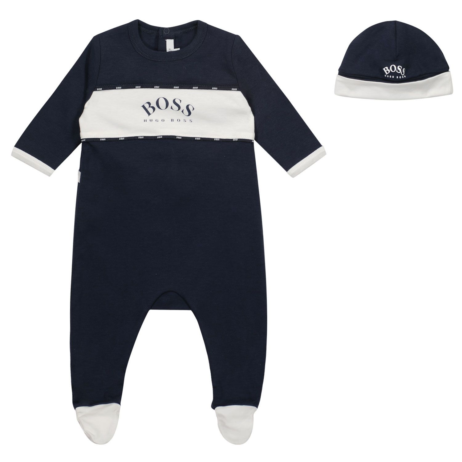 Picture of Boss J98309 baby playsuit navy