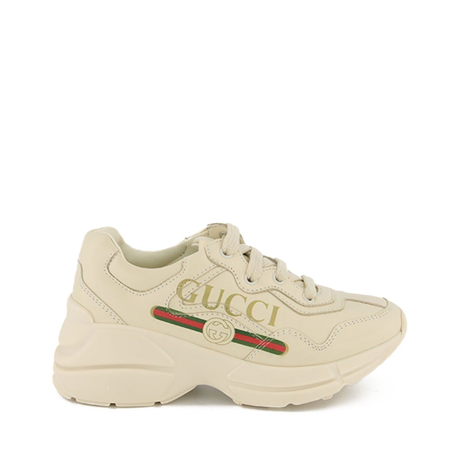 Picture of Gucci 579317 kids sneakers off white