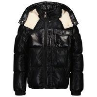 Picture of Moncler 1A53C20 kids jacket black