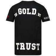 Afbeelding van in Gold We Trust THE PUSHA kinder t-shirt zwart