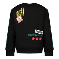 Picture of Dsquared2 DQ0193 baby sweater black
