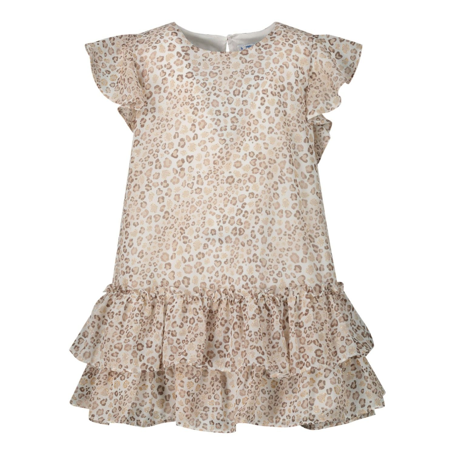 Picture of Mayoral 3957 kids dress beige