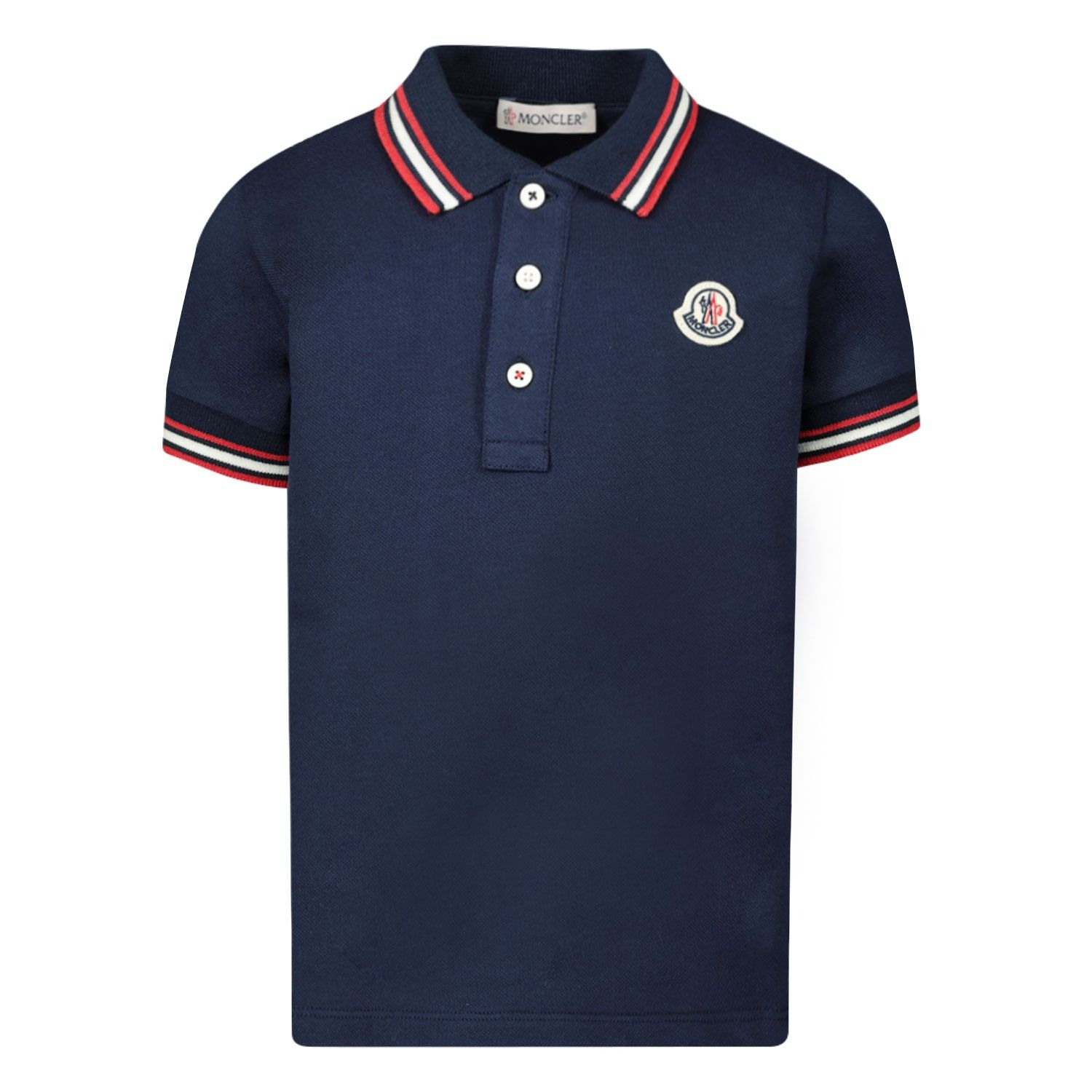 Picture of Moncler 8A70320 baby poloshirt navy