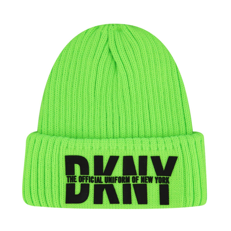 Afbeelding van DKNY D31262 kindermuts fluor groen