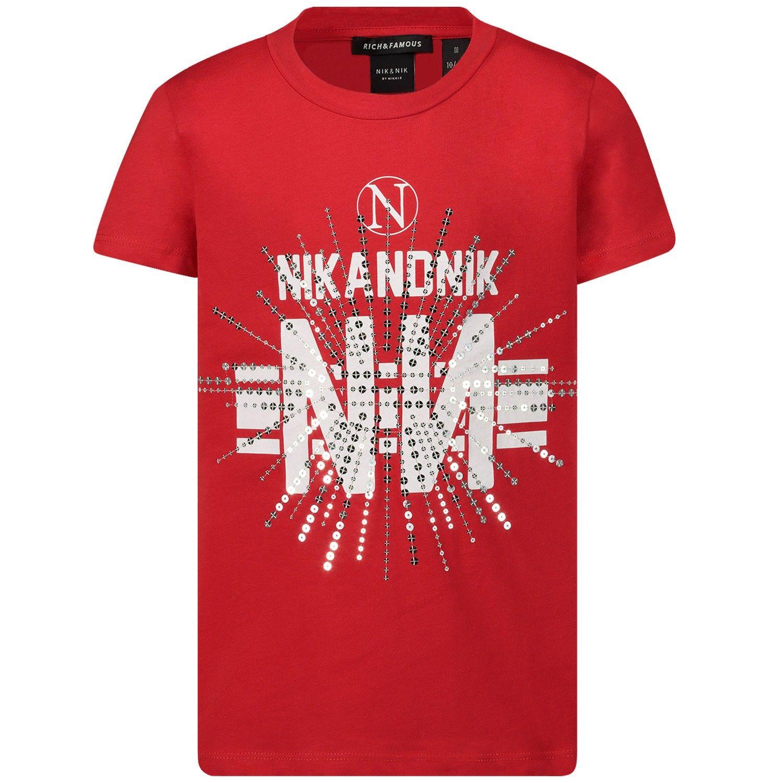 Afbeelding van NIK&NIK G8426 kinder t-shirt rood