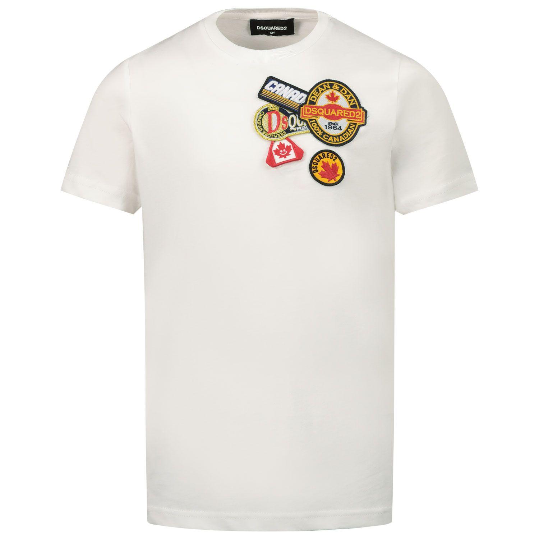 Afbeelding van Dsquared2 DQ048Q kinder t-shirt wit
