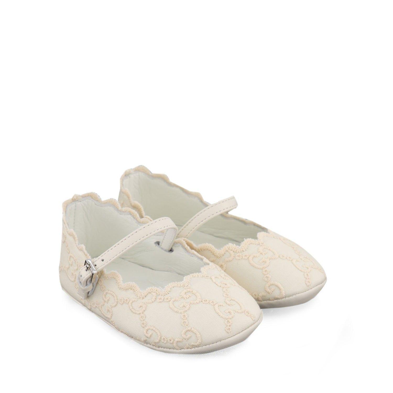 Afbeelding van Gucci 603753 babyschoenen off white