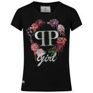 Afbeelding van Philipp Plein F20C GTK0565 kinder t-shirt zwart