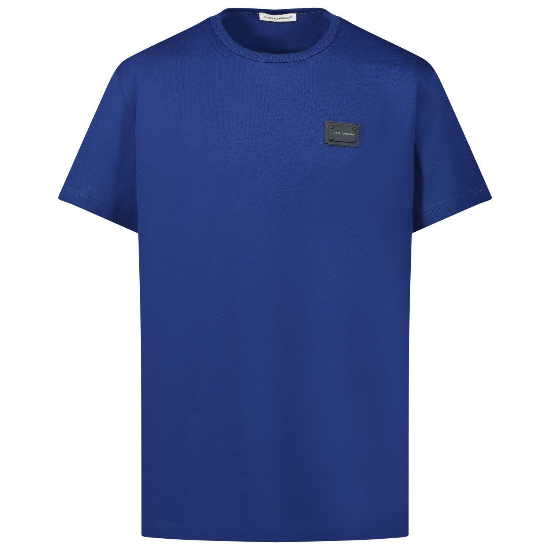 Bild von Dolce & Gabbana L4JT7T G7OLK Kindershirt Blau