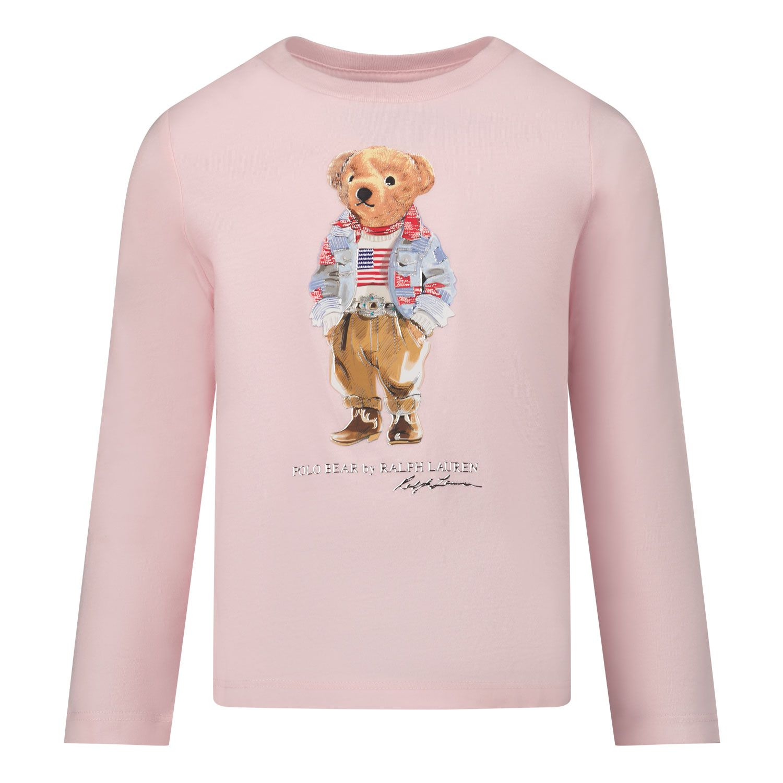Picture of Ralph Lauren 854212 kids t-shirt light pink
