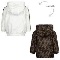 Picture of Fendi BUA027 baby coat white