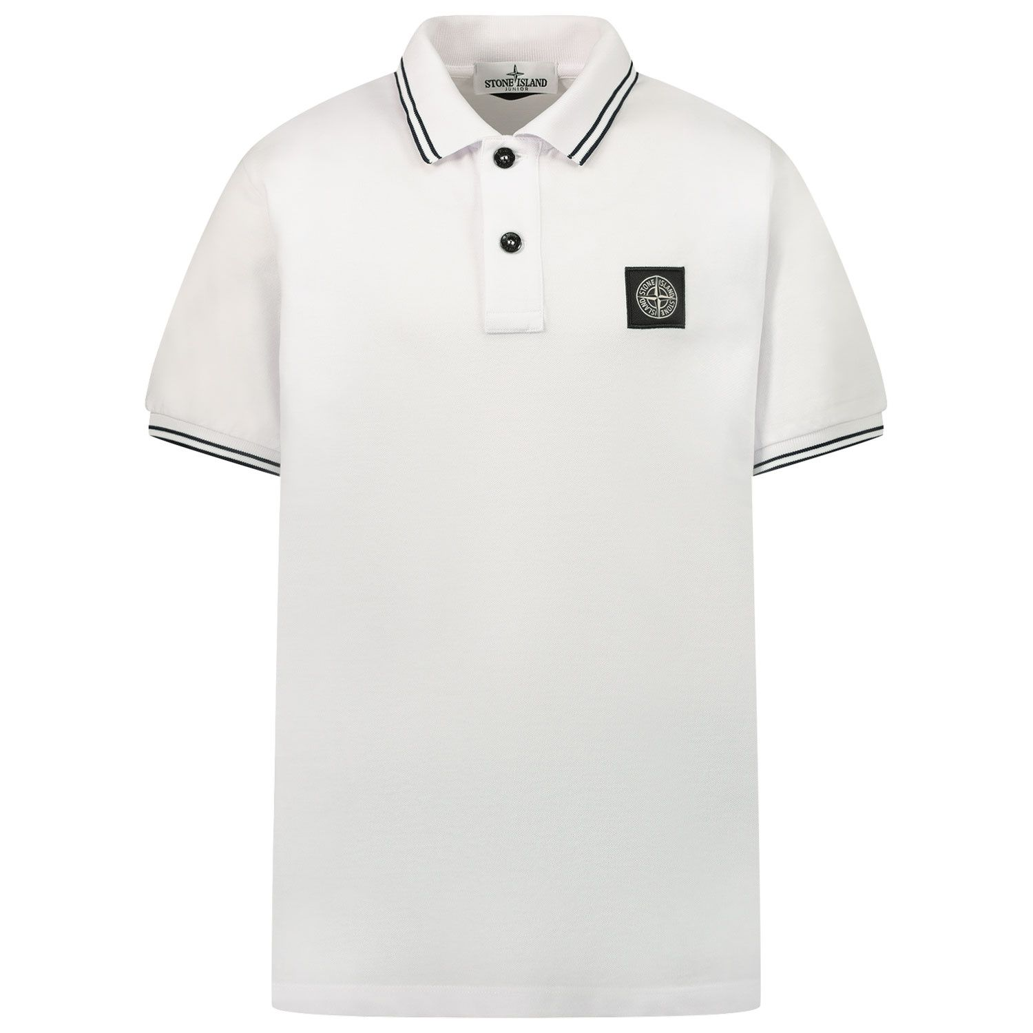 Picture of Stone Island 21348 kids polo shirt white