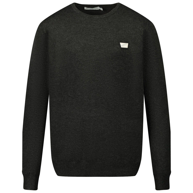 Picture of Antony Morato MKSW01152 kids sweater anthracite