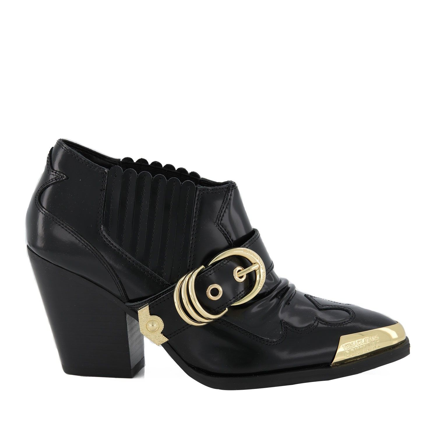 Picture of Versace E0VVBS11 womens boots black