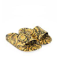 Picture of Versace 1000255 kids flipflops gold