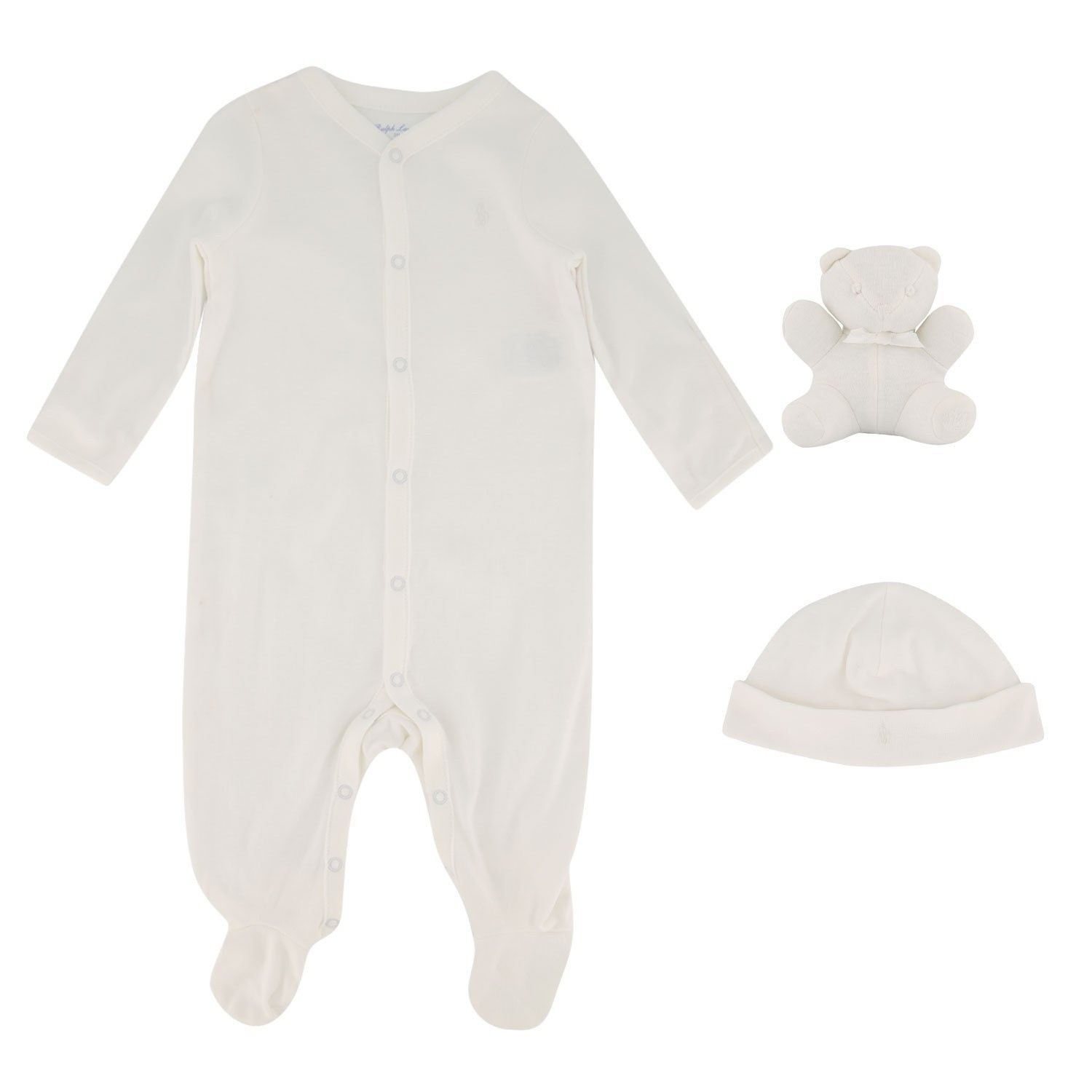 Picture of Ralph Lauren 320570539 baby playsuit white