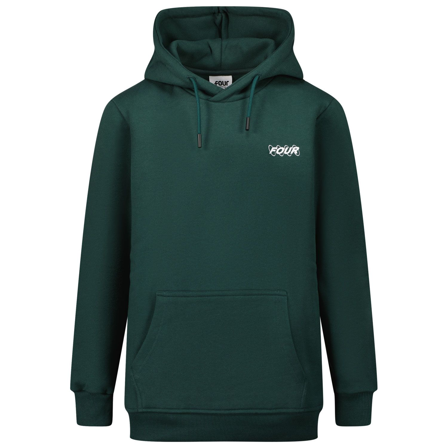 Picture of Four HOODIE CIRCLES kids sweater dark green