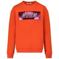 Picture of MSGM 25155 kids sweater orange