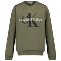 Picture of Calvin Klein IU0IU0069 kids sweater army