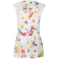 Picture of MonnaLisa 115203 kids jumpsuit white
