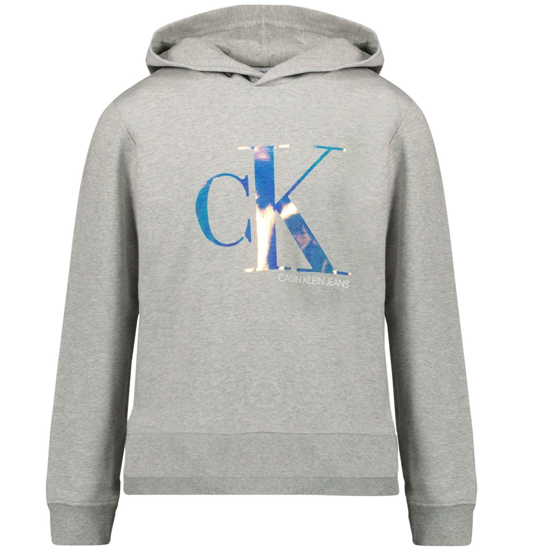 Afbeelding van Calvin Klein IG0IG00579 kindertrui licht grijs