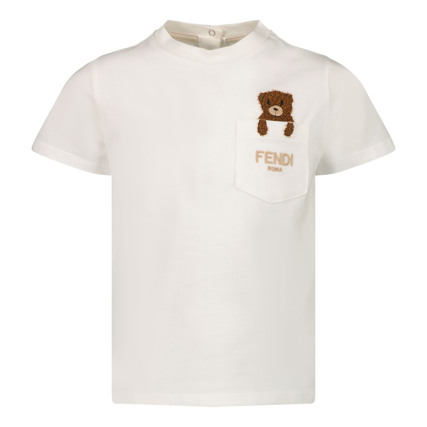 Picture of Fendi BUI031 ST8 baby shirt white