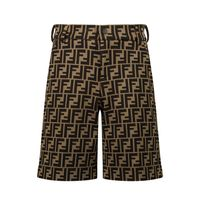 Picture of Fendi JMF315 A6A6 kids shorts brown