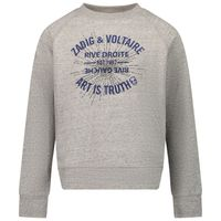 Picture of Zadig & Voltaire X15313 kids sweater grey