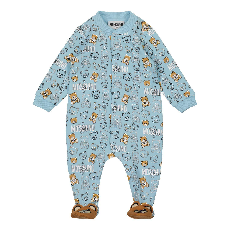 Bild von Moschino MUY03F Babystrampelanzug Hellblau