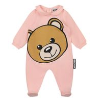 Picture of Moschino MNY037 baby playsuit light pink