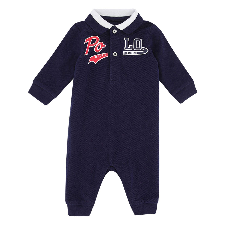 Picture of Ralph Lauren 320799516 baby playsuit navy