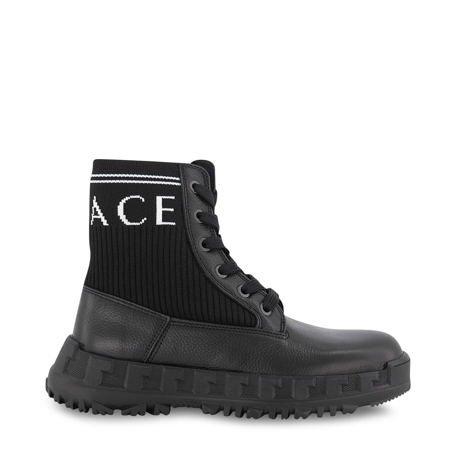 Picture of Versace YHX00019 kids boots black