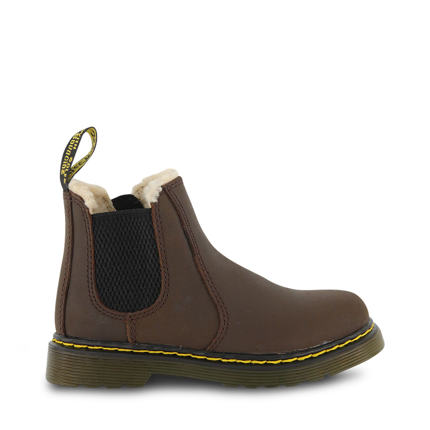Picture of Dr. Martens 25098201 kids boots brown