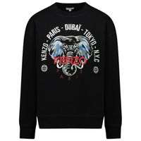 Picture of Kenzo KR15588 kids sweater black