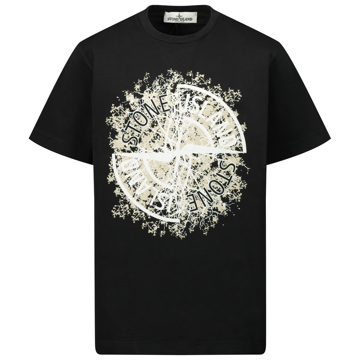 Picture of Stone Island MO731621057 kids t-shirt black
