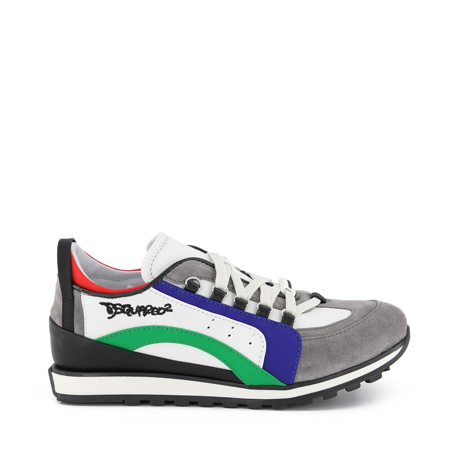 Picture of Dsquared2 63511 kids sneakers green