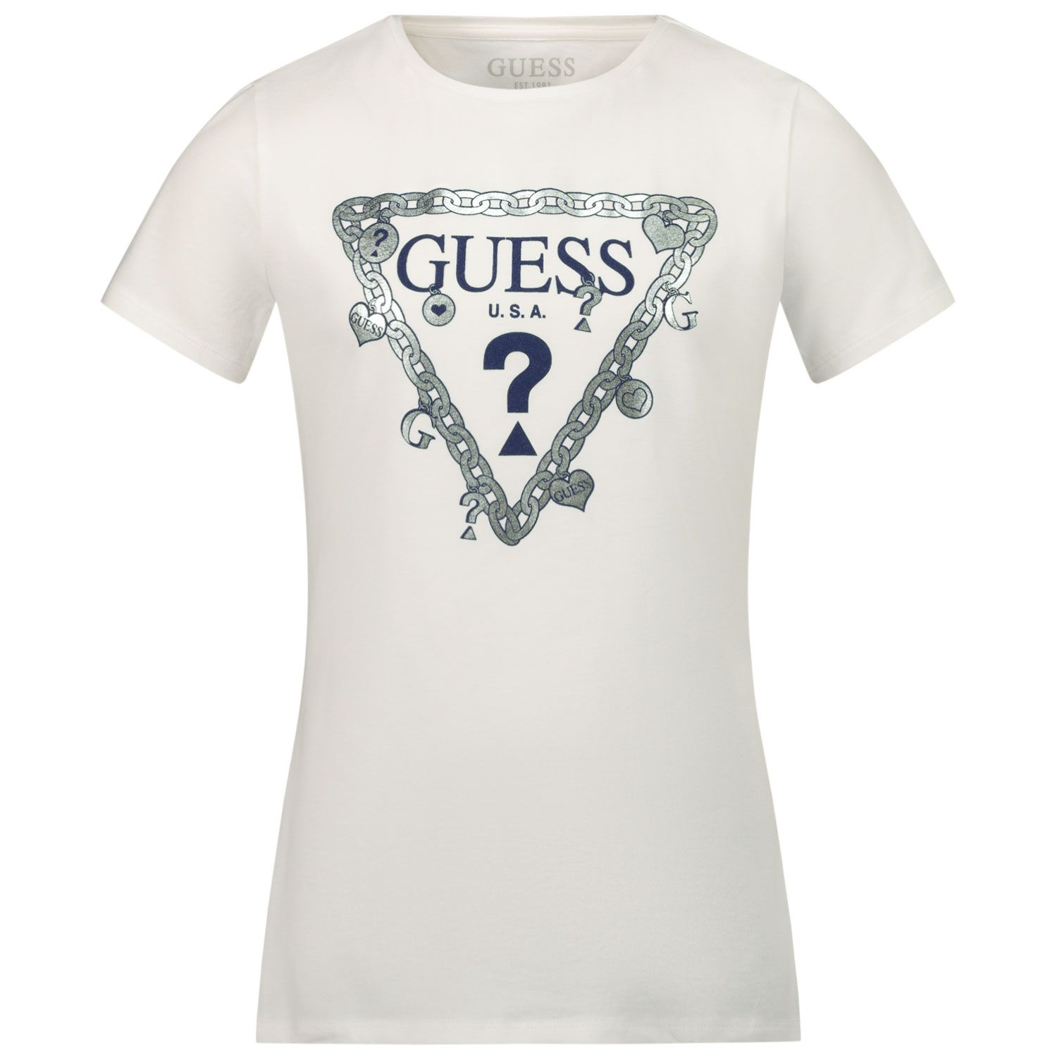 Picture of Guess J1RI19 kids t-shirt white