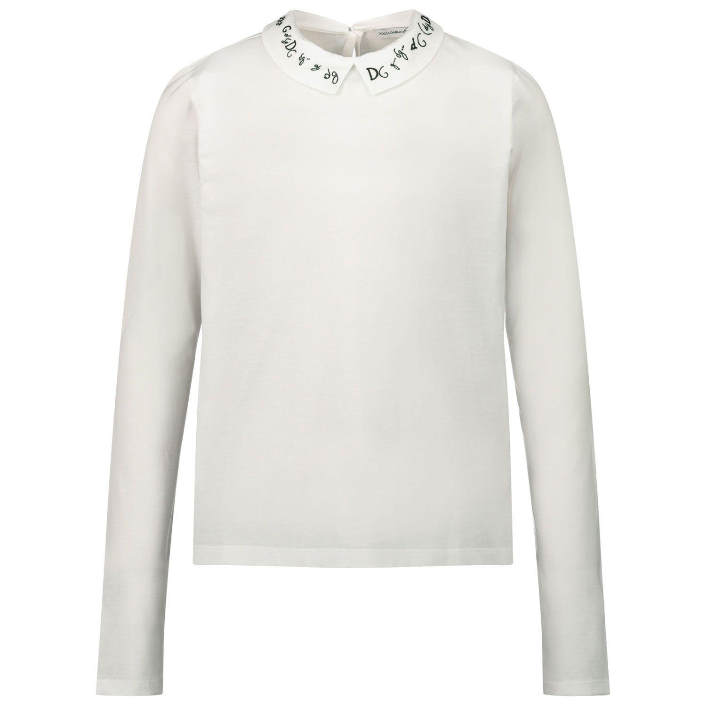 Bild von Dolce & Gabbana L5JTEA/G7WYO Kinderhemd Weiß
