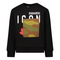 Picture of Dsquared2 DQ0618 baby sweater black