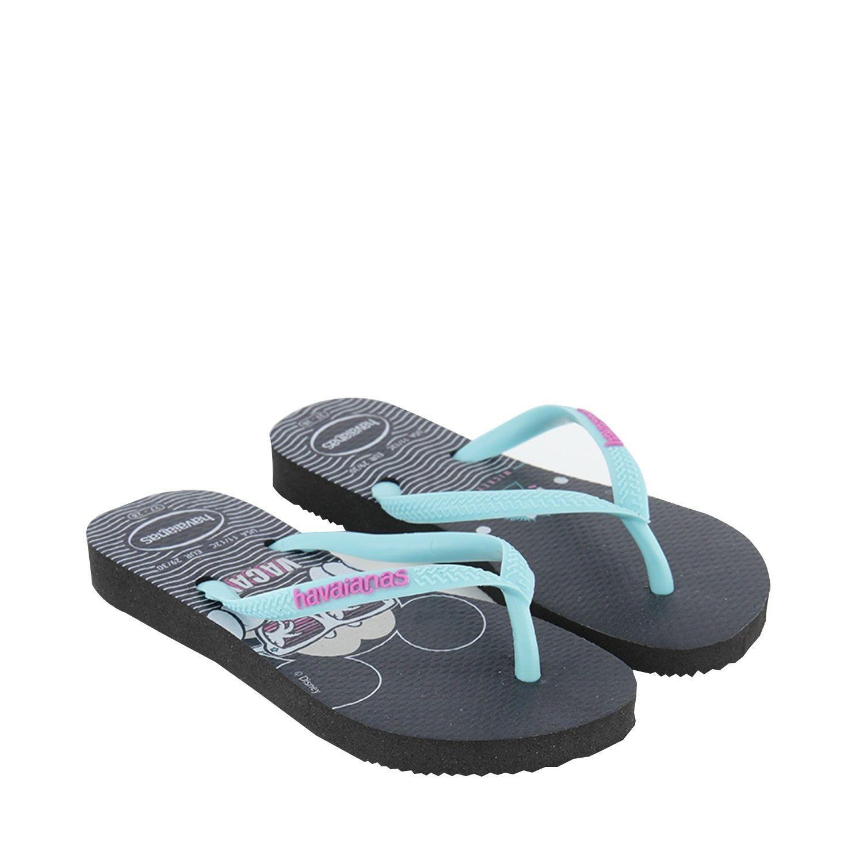 Picture of Havaianas 4130287 kids flipflops black