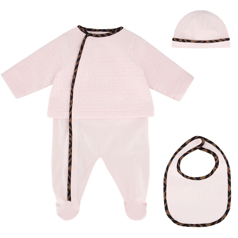 Bild von Fendi BUK068 ACVP Babystrampelanzug Hellrosa