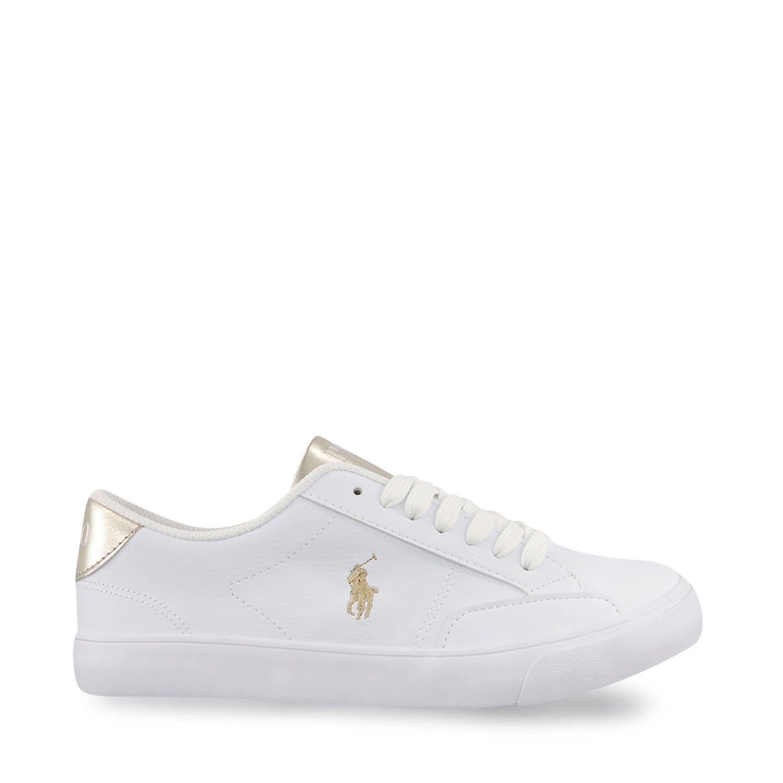 Afbeelding van Ralph Lauren RF102981 kindersneakers wit/goud