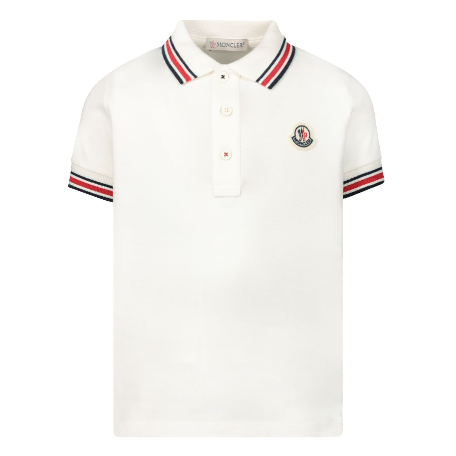 Picture of Moncler 8A70320 baby poloshirt off white